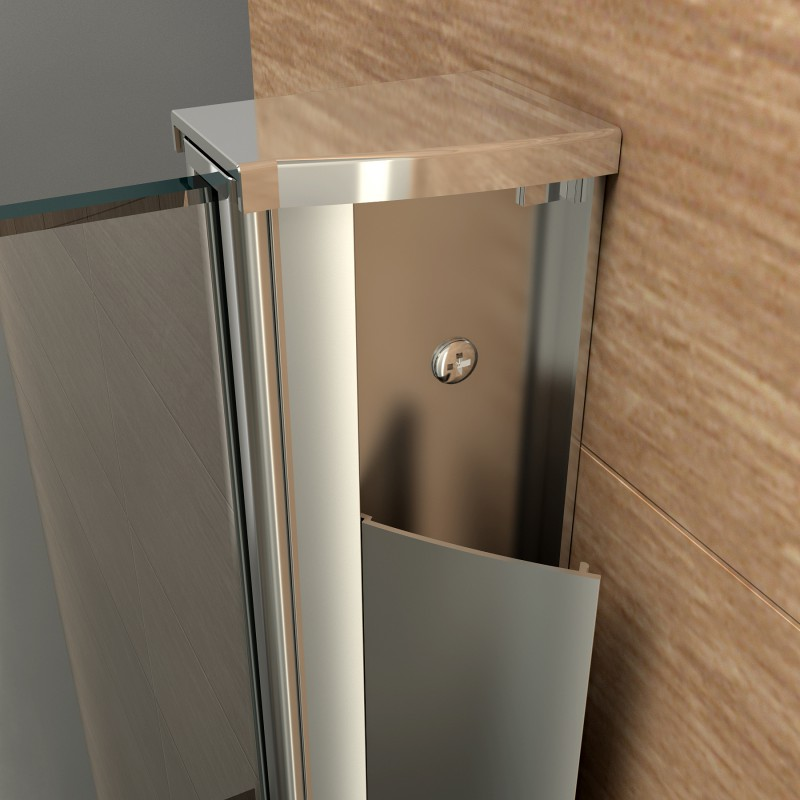 aluminiumprofil wandprofil duschkabine f r 8mm glas 200 cm 98 9. Black Bedroom Furniture Sets. Home Design Ideas