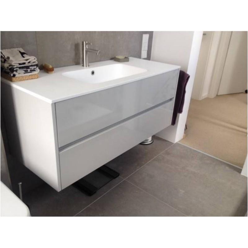 badm bel serie slim 120 cm mit mineralguss waschbeck. Black Bedroom Furniture Sets. Home Design Ideas