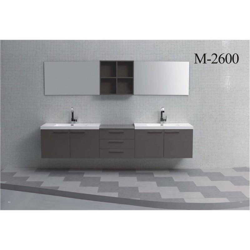 badm bel doppelwaschtisch set 260 cm in verschiedenen farben 1. Black Bedroom Furniture Sets. Home Design Ideas