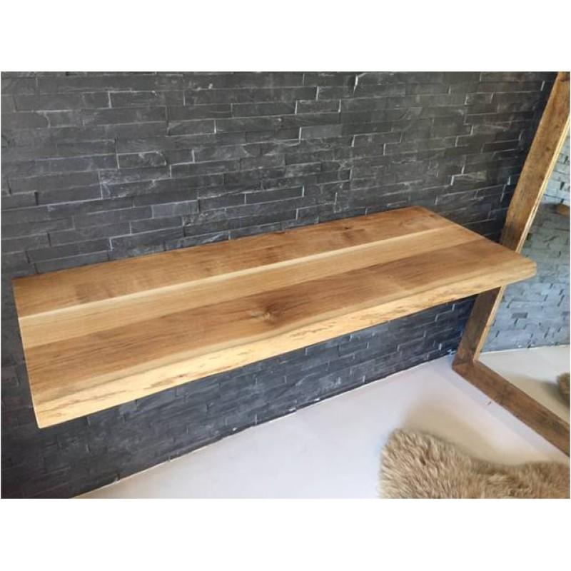 Eiche massiv echtholz waschtischplatte mit baumkante ge lt in ve - Waschtischplatte echtholz ...