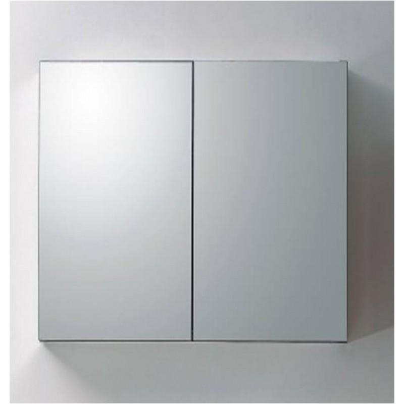 aluminium spiegelschrank 100 cm mit 2 ablagef chern 199. Black Bedroom Furniture Sets. Home Design Ideas