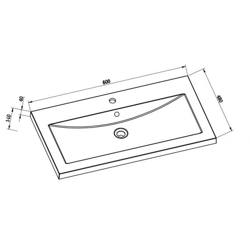 Toiletten Dusche Aufsatz : Mineralguss Aufsatz-Waschbecken Eckig 600x480x40 mm, 129,00 ?