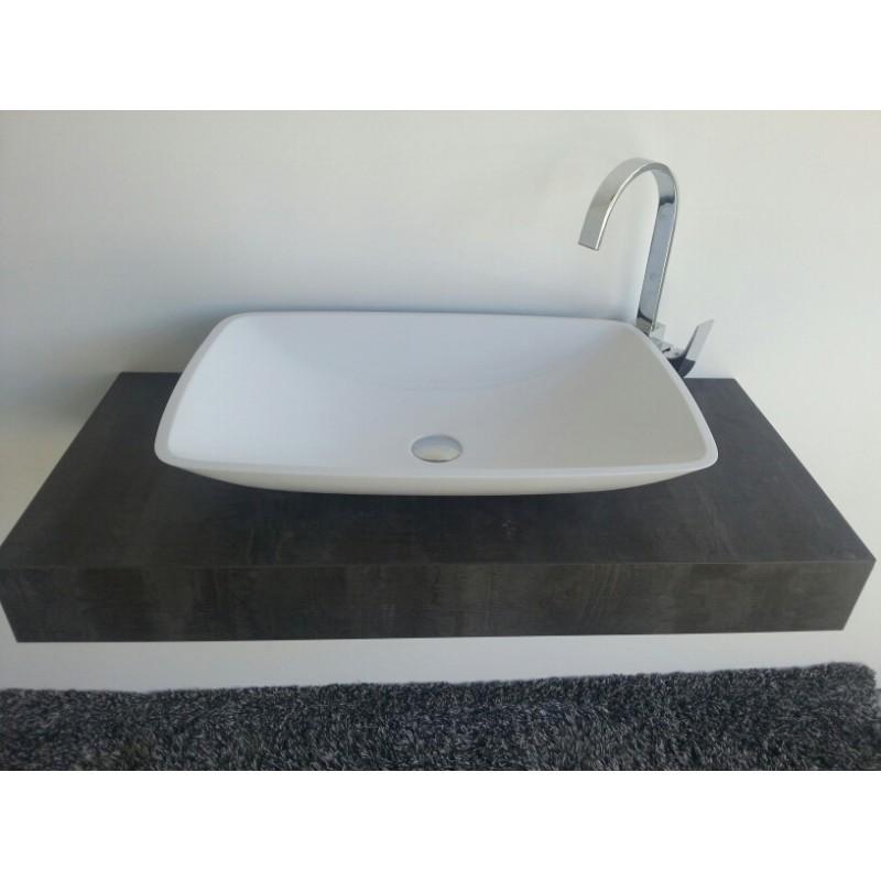 """Toiletten Dusche Aufsatz : Mineralguss Aufsatz-Waschschale """"Kumos"""" 633x422x120 mm, 27"""