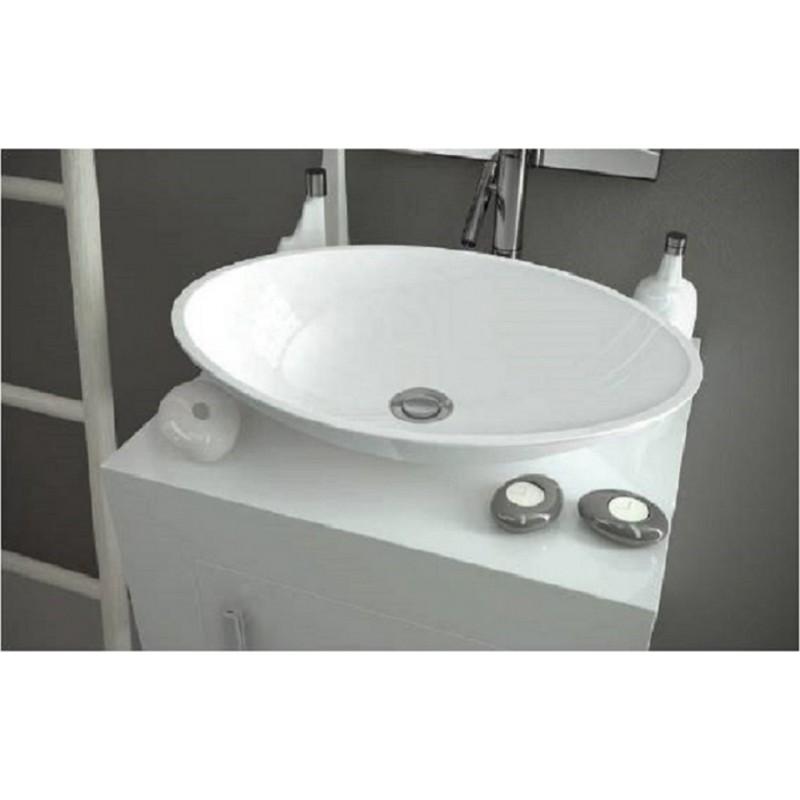 """Toiletten Dusche Aufsatz : Mineralguss Aufsatz-Waschschale """"Sindir"""" 589x422x120 mm, 24"""