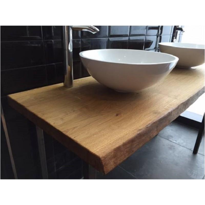 echtholz waschtischplatte eiche 5 6 cm vollmassiv auf ma 89 0. Black Bedroom Furniture Sets. Home Design Ideas