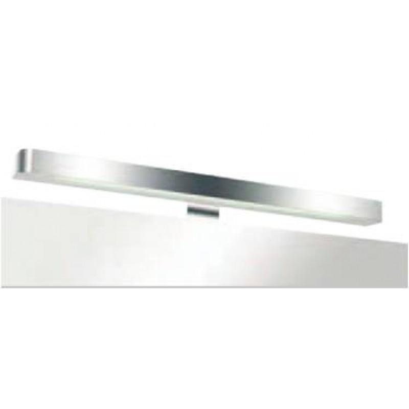 Badlampe quadros mit aluminium chrome frontleiste und t5 for Badlampe design