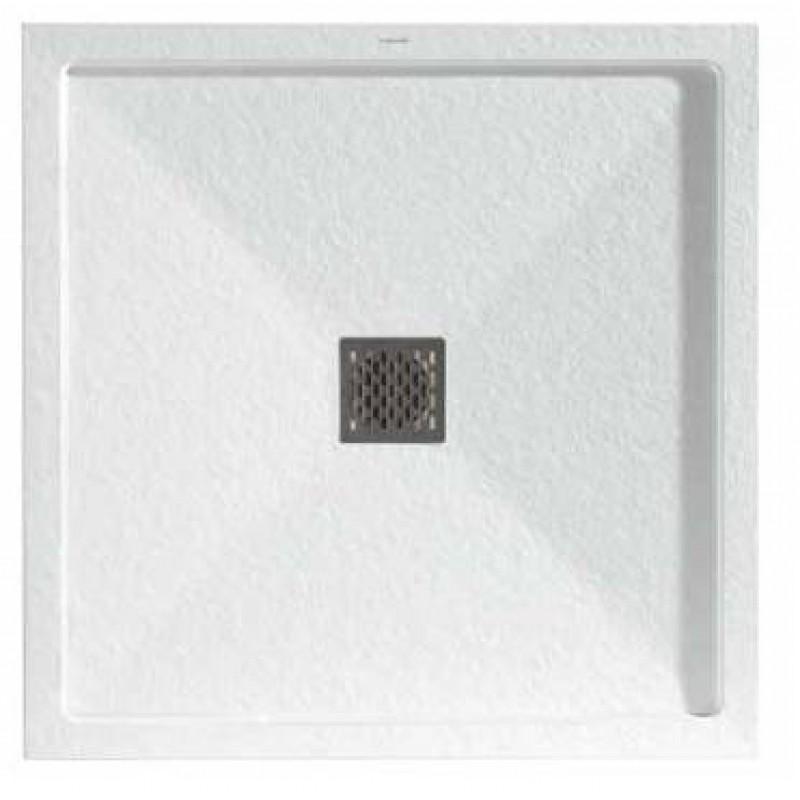 eck duschwanne mit mittigen ablauf und umlaufendem rand inklusive vie. Black Bedroom Furniture Sets. Home Design Ideas
