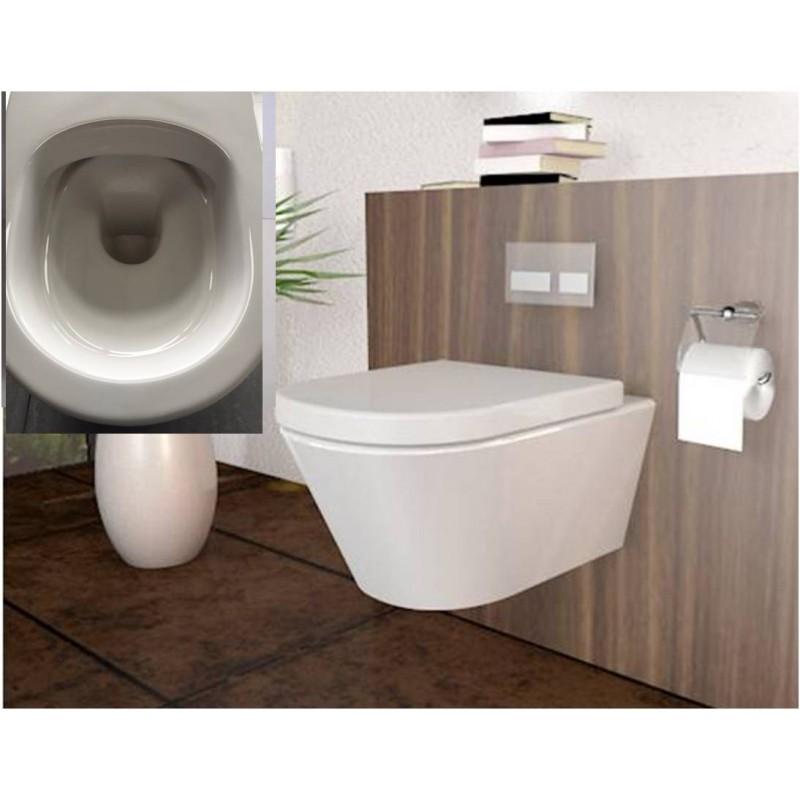 sp lrandlos h nge wc desin soft close deckel vorwandelement. Black Bedroom Furniture Sets. Home Design Ideas