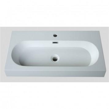mineralguss aufsatz waschbecken eckig und innen oval 600x380x90 mm. Black Bedroom Furniture Sets. Home Design Ideas