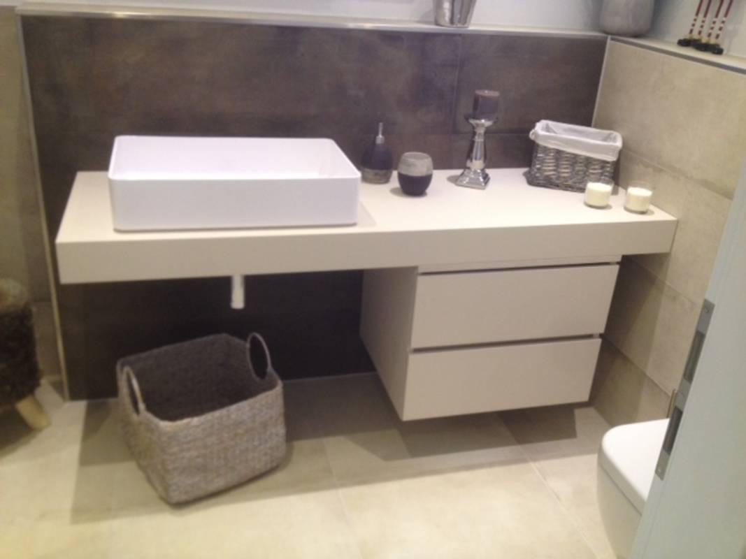 """Kundenbild 4 Badmöbel """"Stilon"""" Waschtischunterplatte mit Unterschrank in verschiedene Abmessungen"""