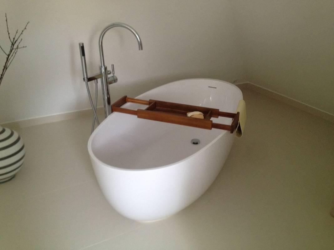 """Kundenbild 4 Mineralguss Badewanne """"Relino""""aus Solid Surface in Glanz oder Matt 1700x800x500 mm"""