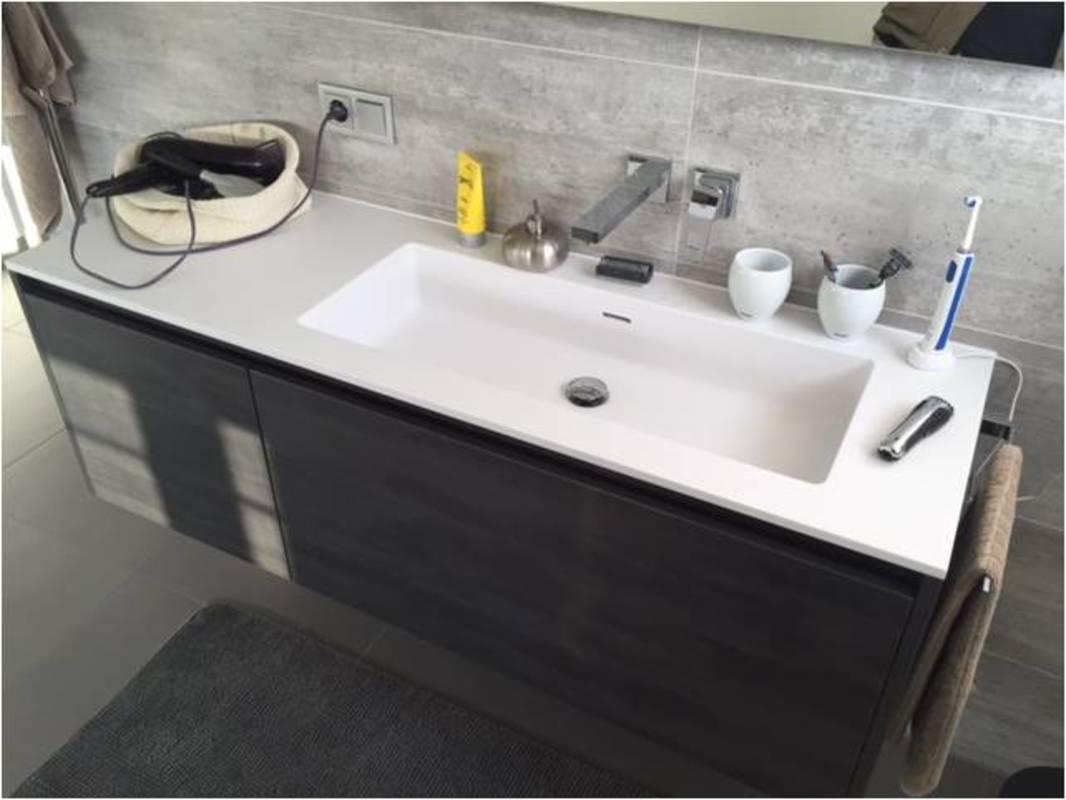 Waschtischunterschrank Typ 207 nach Maß mit zwei außenliegenden Schub