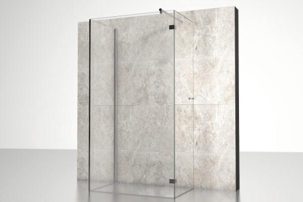glas duschkabine diese duschkabine bestehend aus festem. Black Bedroom Furniture Sets. Home Design Ideas