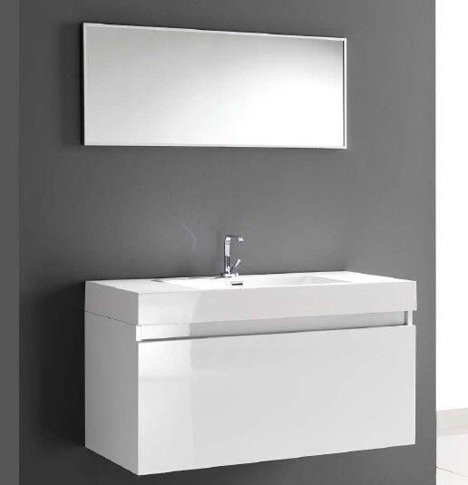 badm belunterschrank 120 cm verschiedene farben inklusive spiegel. Black Bedroom Furniture Sets. Home Design Ideas