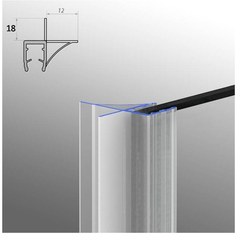 duschdichtung dichtleiste modell 6 f r 6mm glasst rke. Black Bedroom Furniture Sets. Home Design Ideas
