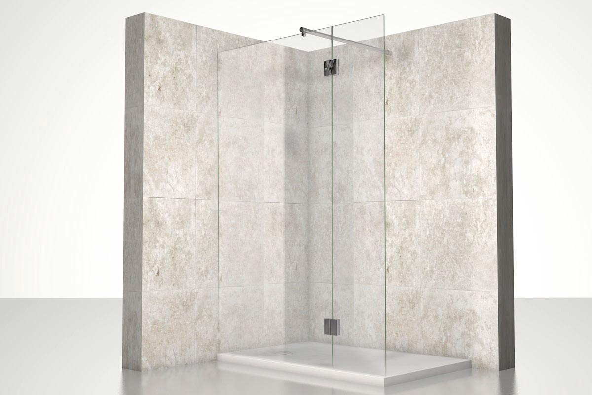 Glastrennwand dusche typ 6 nach ma - Glastrennwand fur dusche ...