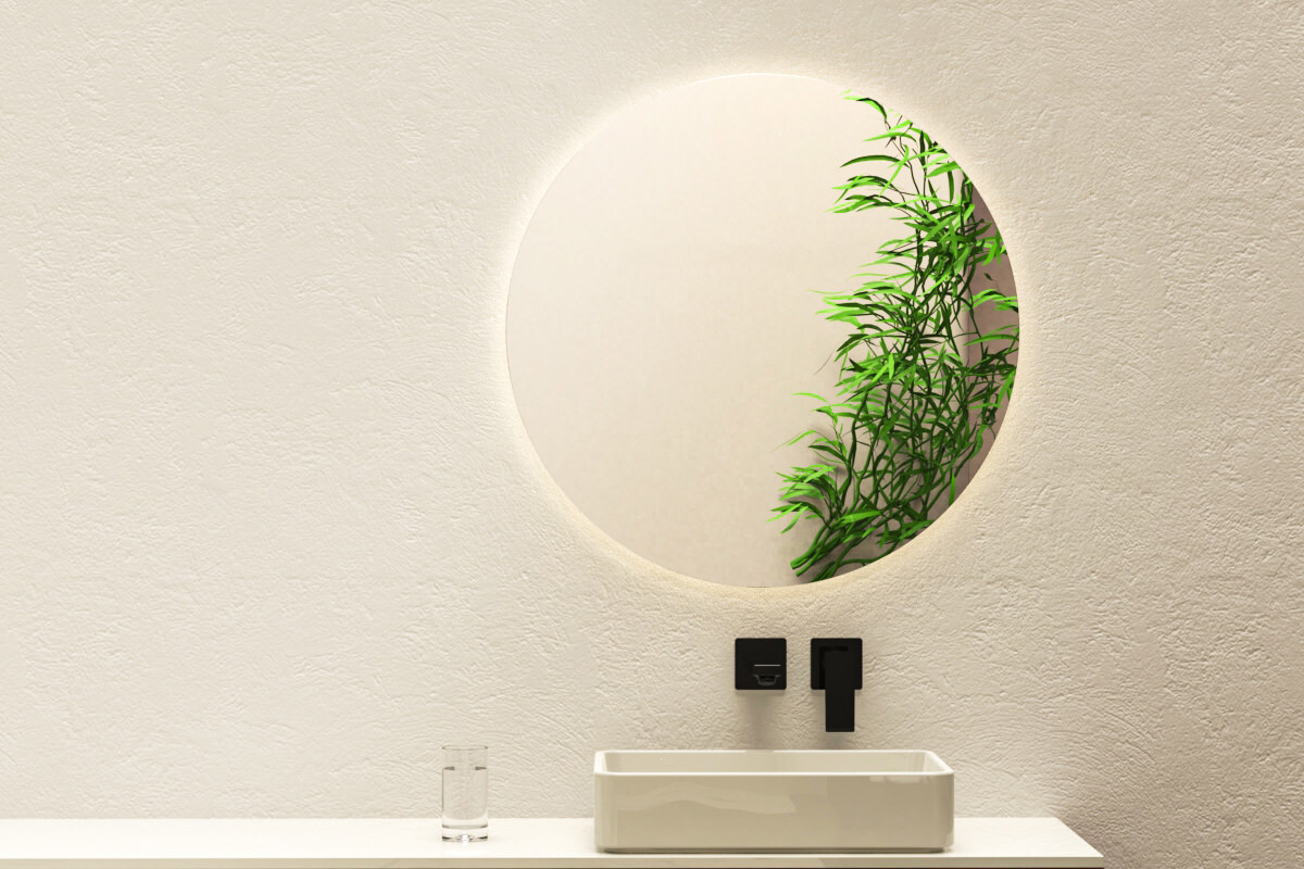 spiegel mit beleuchtung typ 2. Black Bedroom Furniture Sets. Home Design Ideas