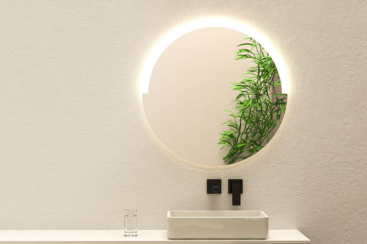 spiegel rund mit beleuchtung fackelmann spiegel rund mit led beleuchtung 80 cm fms. Black Bedroom Furniture Sets. Home Design Ideas