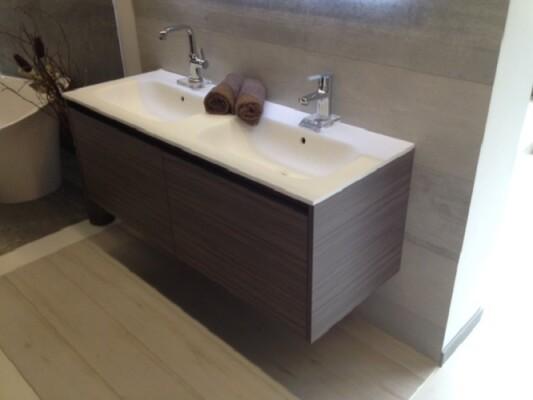 Waschbeckenunterschrank nach Maß | .one bath | {Doppelwaschtisch mit unterschrank 180 68}