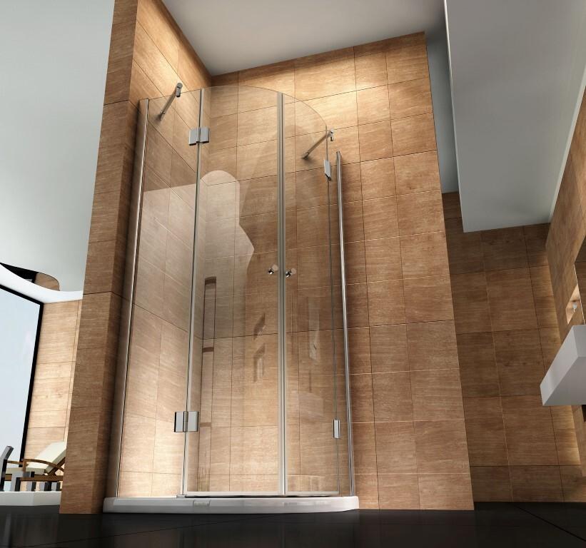 Moderne Dusche Viertelkreis One Bath