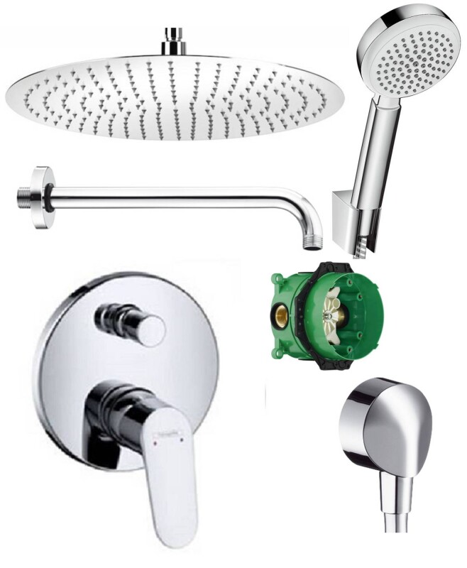 Hansgrohe unterputz duscharmaturenset focus ibox armatur for Hansgrohe armatur