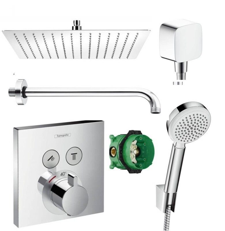 hansgrohe shower select thermostat unterputz duscharmaturenset duscht. Black Bedroom Furniture Sets. Home Design Ideas