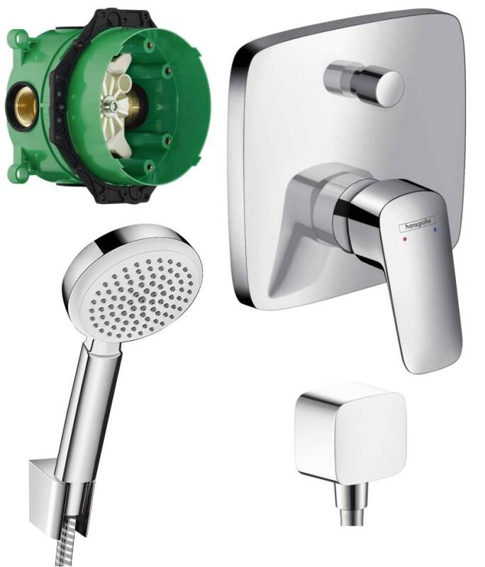 Hansgrohe logis unterputz badewannenarmatur set ibox armatur for Badewannenarmatur unterputz