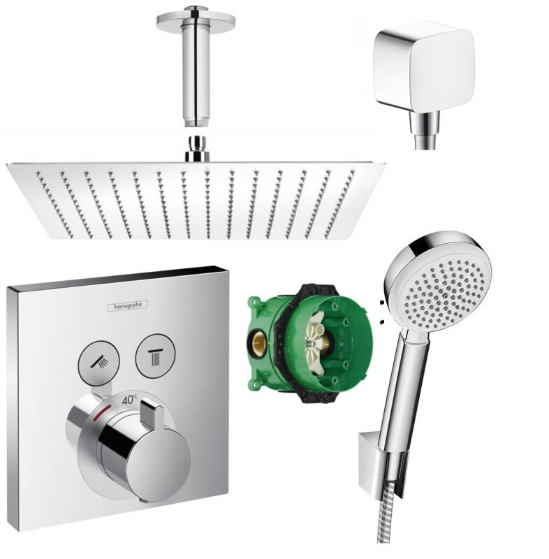 hansgrohe showerselect thermostat unterputz duscharmaturenset duschte. Black Bedroom Furniture Sets. Home Design Ideas