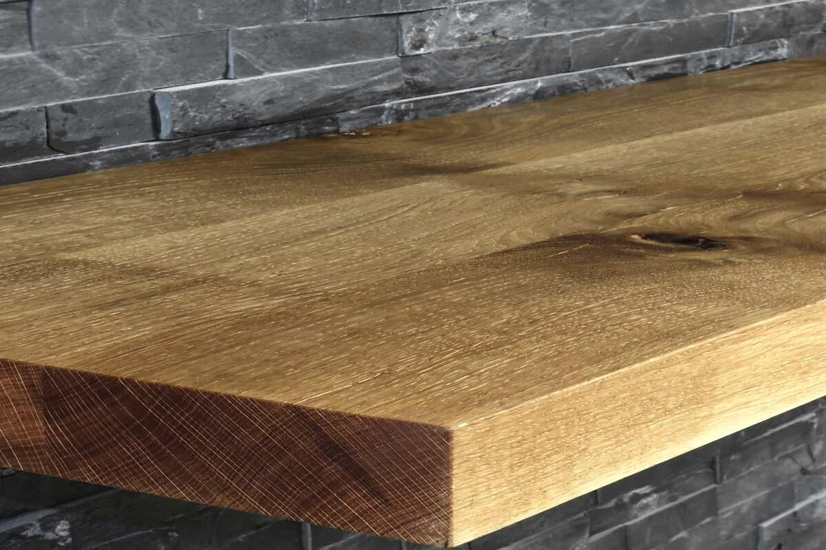 Echtholz platte tisch platte eiche echtholz dunkel for Eiche gebeizt