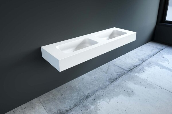mineralguss doppel waschbecken nach ma. Black Bedroom Furniture Sets. Home Design Ideas