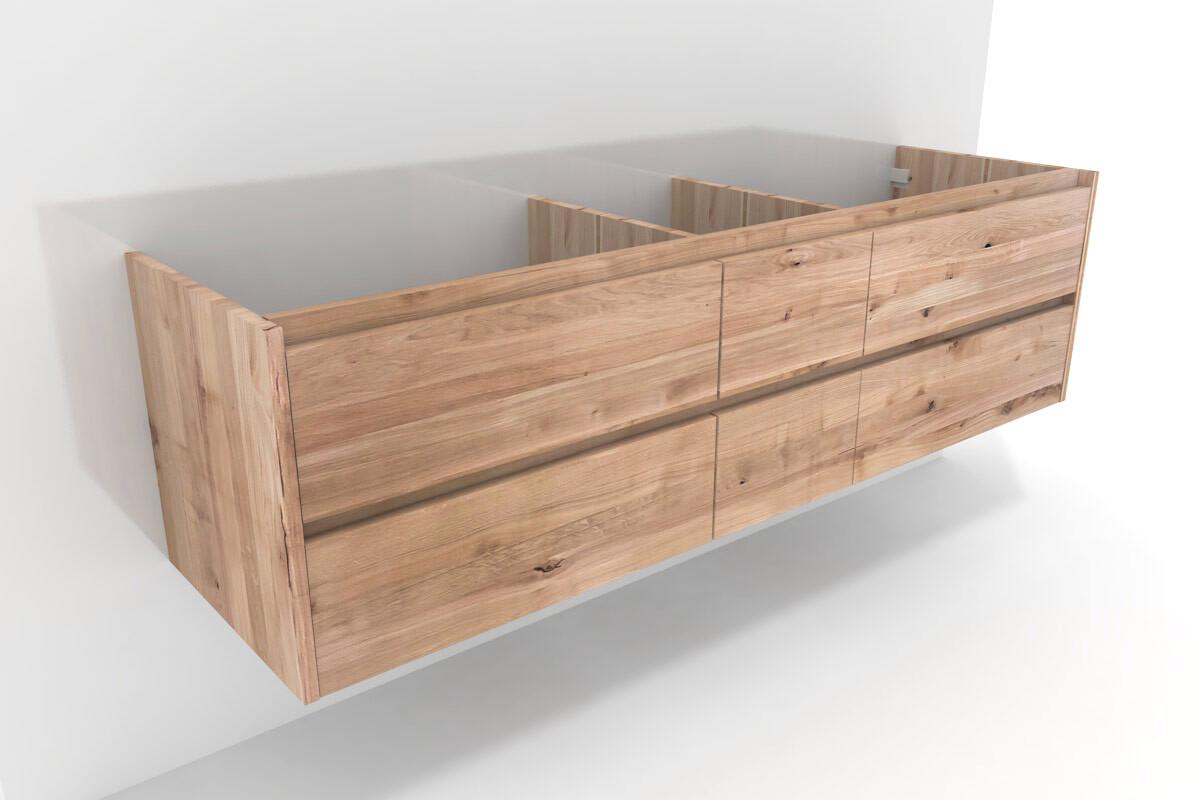badschrank xl kernbuche massiv nach ma 6 schubladen. Black Bedroom Furniture Sets. Home Design Ideas