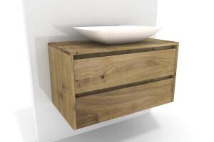 unterschrank mit waschbecken eiche massivolz nach ma. Black Bedroom Furniture Sets. Home Design Ideas