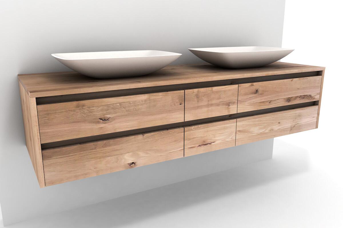 kernbuche waschtischschrank massiv mit becken. Black Bedroom Furniture Sets. Home Design Ideas