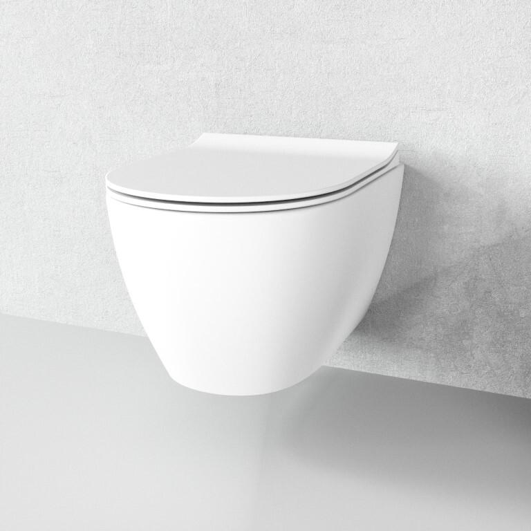 sp lrandlos h nge wc aldo matt wei absenkautomatik deckel. Black Bedroom Furniture Sets. Home Design Ideas