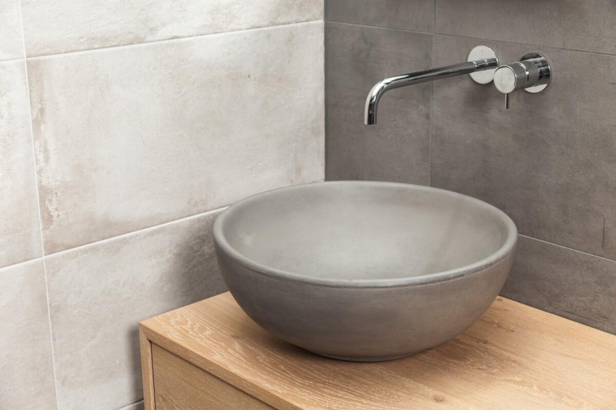 waschbecken in beton handarbeit one bath. Black Bedroom Furniture Sets. Home Design Ideas