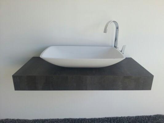 Mineralguss Aufsatz Waschschale Kumos 633x422x120 Mm