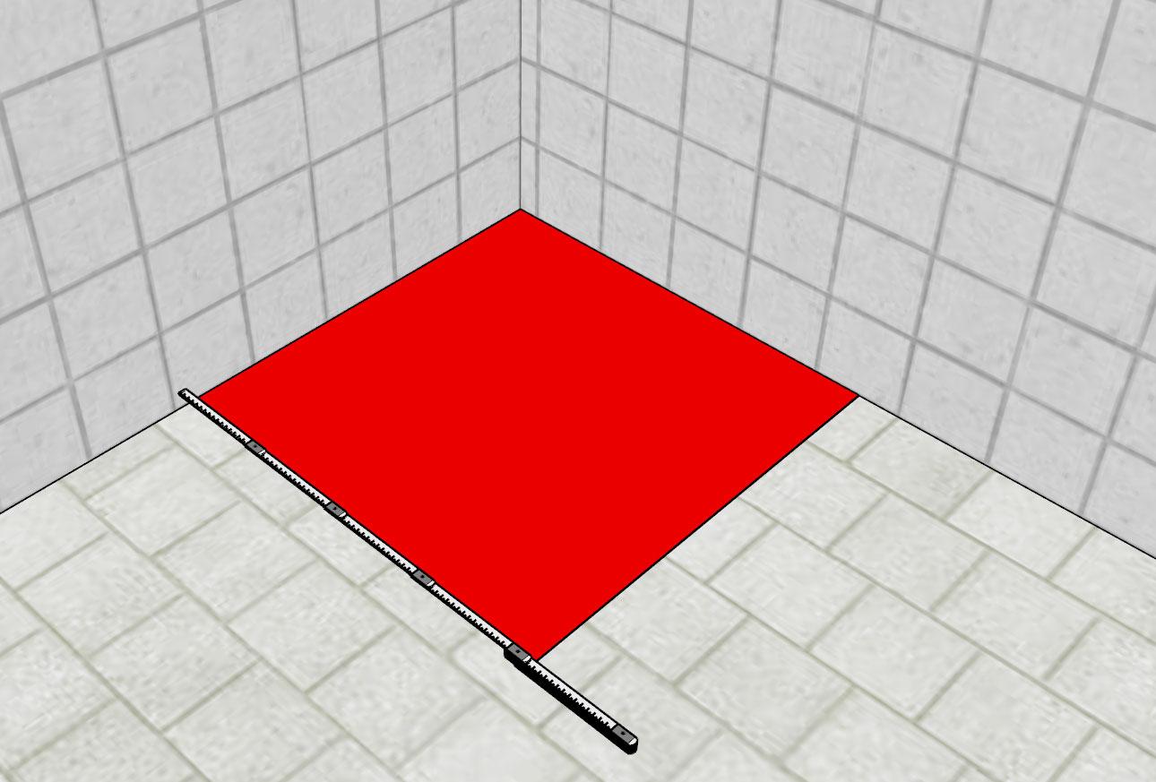 Bodengleiche Dusche Nassbereich messen