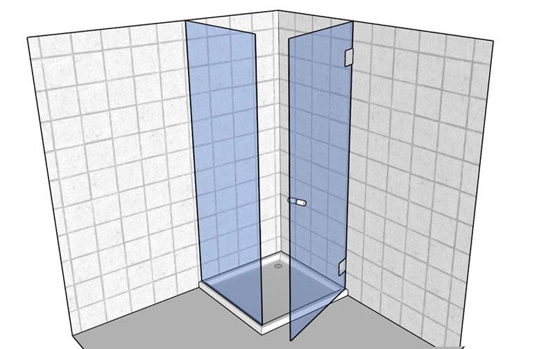 Beispiel: Duschkabine Rechtssanschlag