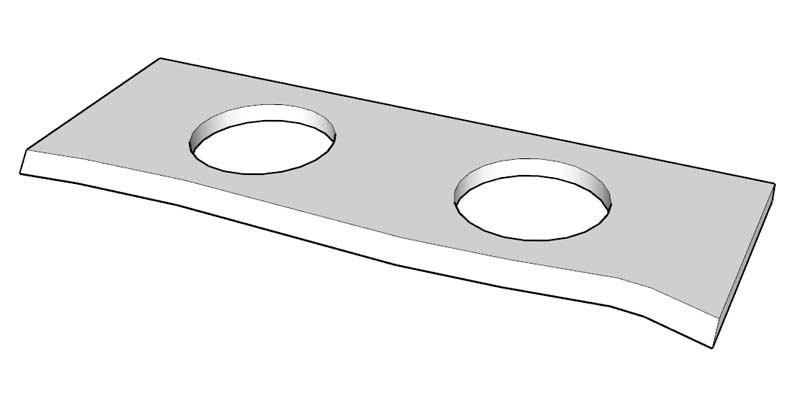 Waschtischplatte Ausschnitt rund